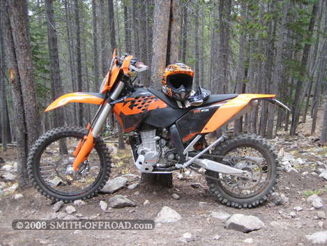 I bought a 2009 KTM 450 XCW, then added a minimal street-legal light kit and